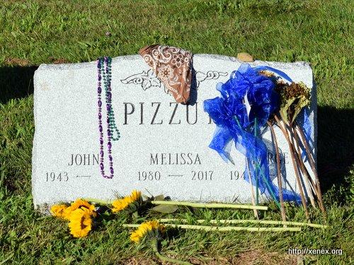 Melissa's grave